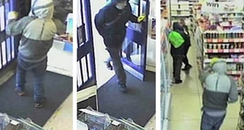 Poole armed robbery CCTV