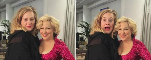 Adele with Bette Midler