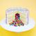 1. Piñata sponge cake.