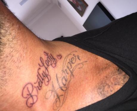 David Beckham neck tattoo