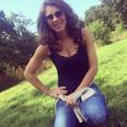 Liz Hurley instagram in park