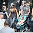 The Beckhams at Disneyland