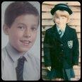 Rich and Zoe school uniform photos