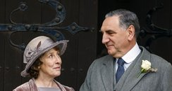 Downton Abbey on set filming