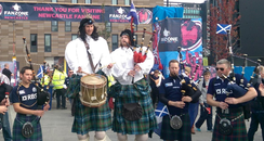 RUGBY WORLD CUP TALL PIPERS