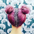 glitter roots instagram hair