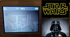 Star Wars Toddler Caught Canvas
