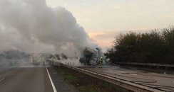 A12 Lorry Fire