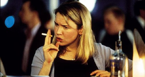 Bridget Jones smoking