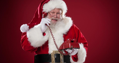 Santa on the phone