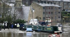 flooding Hebden Bridge Yorkshire