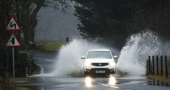Flooded Road in Perthshire