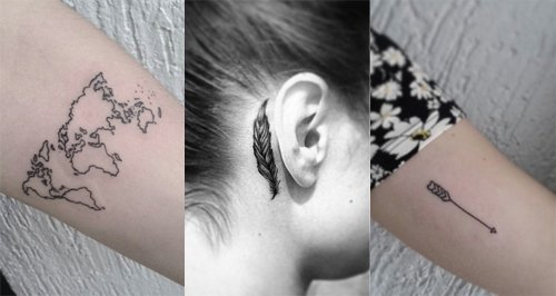 Feminine chic tattoos
