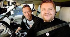James Corden and Chris Martin