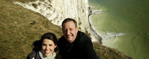 James & Becky at the White Cliffs