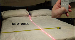 Man Laser Down Bed