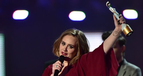 Adele Winner Best Female Solo Artist Brit Awards 2