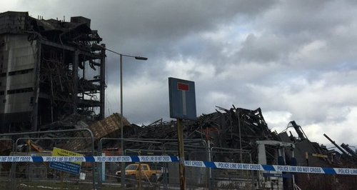 Didcot Power Station rubble