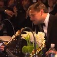 Leonardo DiCaprio engraving Oscar