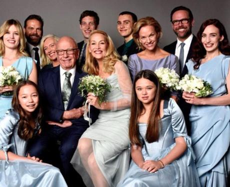Jerry Hall, Rupert Murdoch, Wedding