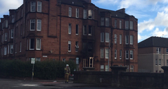 flat fire in Glasgow