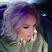 21. Alesha Dixon debuts new purple hair.