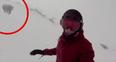 Kelly Murphy snowboarding in japan