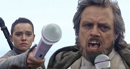 Luke Skywalker sings Celine dion