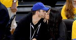 Ashton Kutcher and Mila Kunis kiss