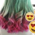 watermelon hair canvas