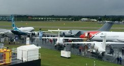 Farnborough Air Show Rain