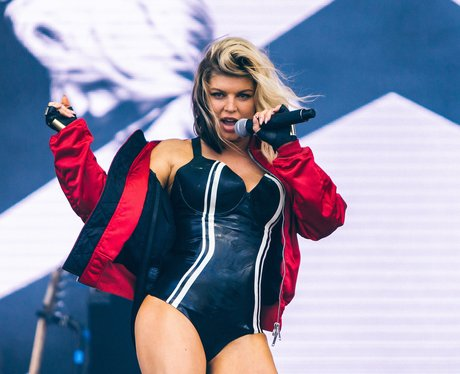 Fergie on stage at Wireless Festival 2016