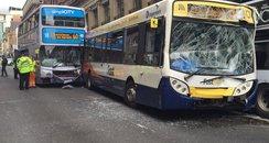 Scene of Renfield Street bus crash