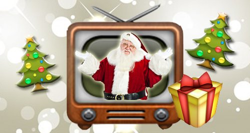 Christmas Telly Early Canvas