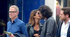 Aidan Turner seen kissing a mystery girl
