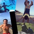 Orlando Bloom Instagram snap collage