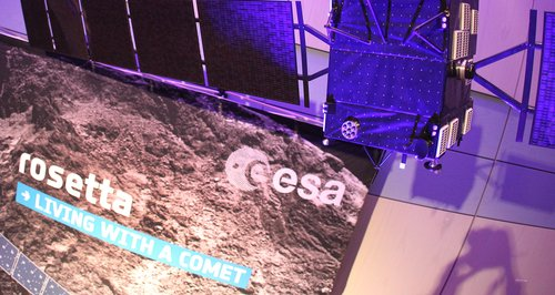 Rosetta spacecraft commet landing
