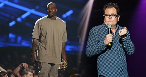 Alan Carr and Kanye West