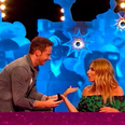 Celebrity Juice Stacey Solomon and Joe Swash propo
