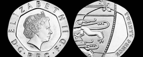 Undated 20p coin 2009