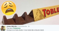 Toblerone new shape of chocolate bar
