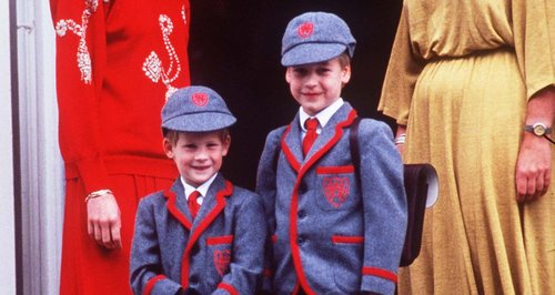 Prince Harry and Prince William school