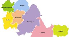 Map of West Midalnds Mayor