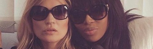 Kate Moss and Naomi Campbell in a throwback snap