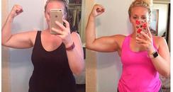 Mum weight loss transformation