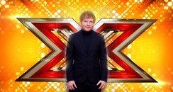 Ed Sheeran X Factor Canvas