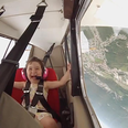 Girl plane flying