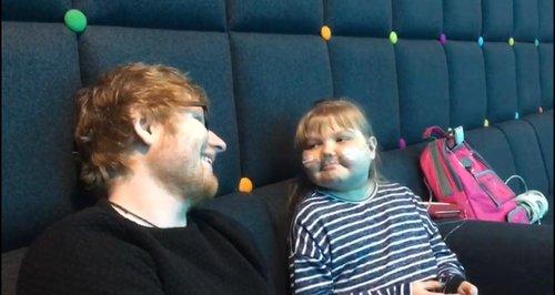 Ed Sheeran meets fan Melody