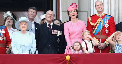 Royal Family at Queen's birthday Buckingham Palace