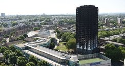 Grenfell Tower burnt out